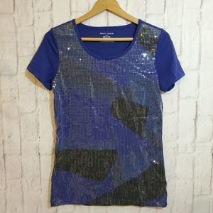 DKNY JEANS Sequins Top